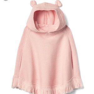 Pink Gap little girls poncho